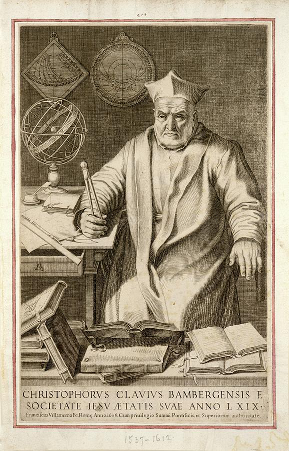 1500s Photograph - Christopher Clavius by Joseph Muller Collection /new York Public Library