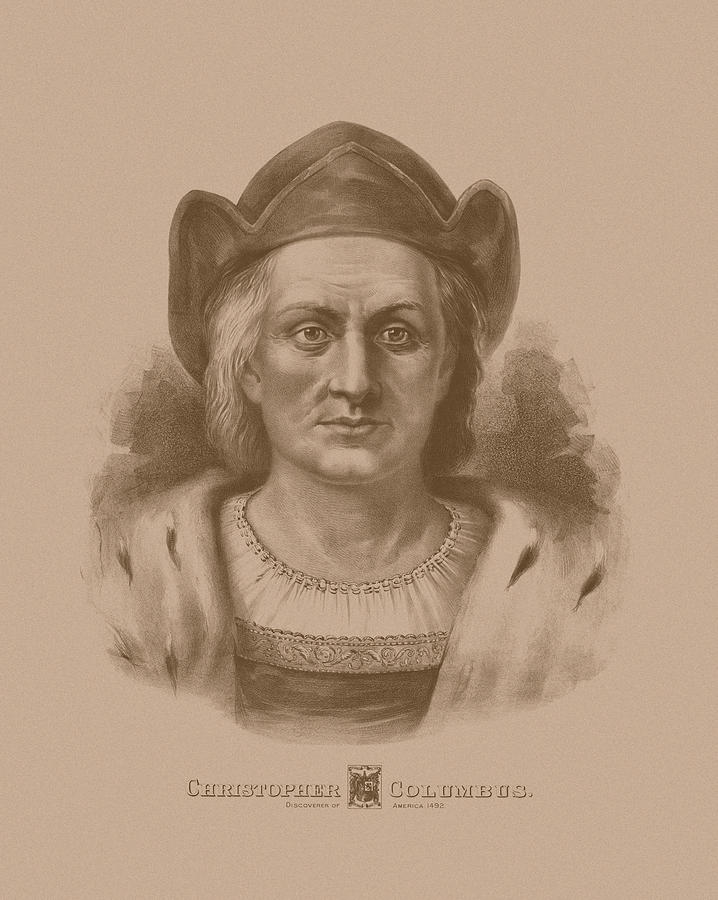 Christopher Columbus Drawing - Christopher Columbus by War Is Hell Store