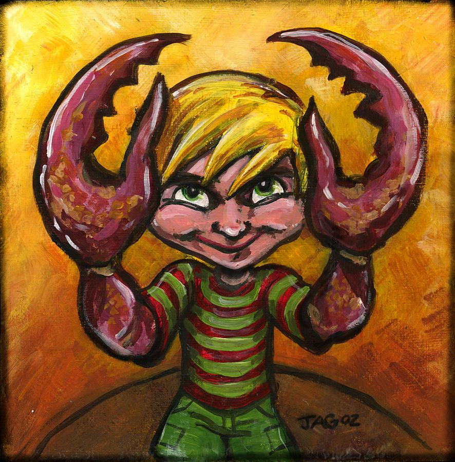 Crab Painting - Christopher Crab by John Ashton Golden