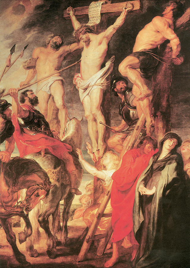 Peter Paul Rubens Painting - Christs Side Pierced With A Lance by Peter Paul Rubens