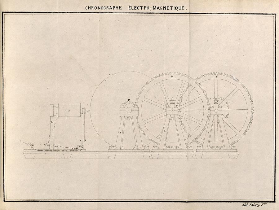 Equipment Photograph - Chronograph, 19th Century Artwork by Science Photo Library