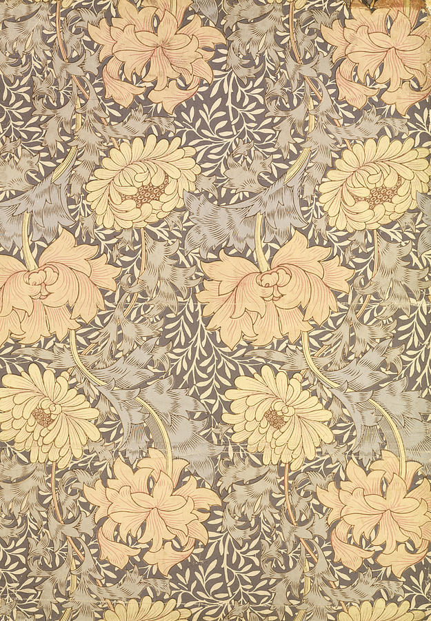 Arts And Crafts Movement Tapestry - Textile - Chrysanthemum by William Morris