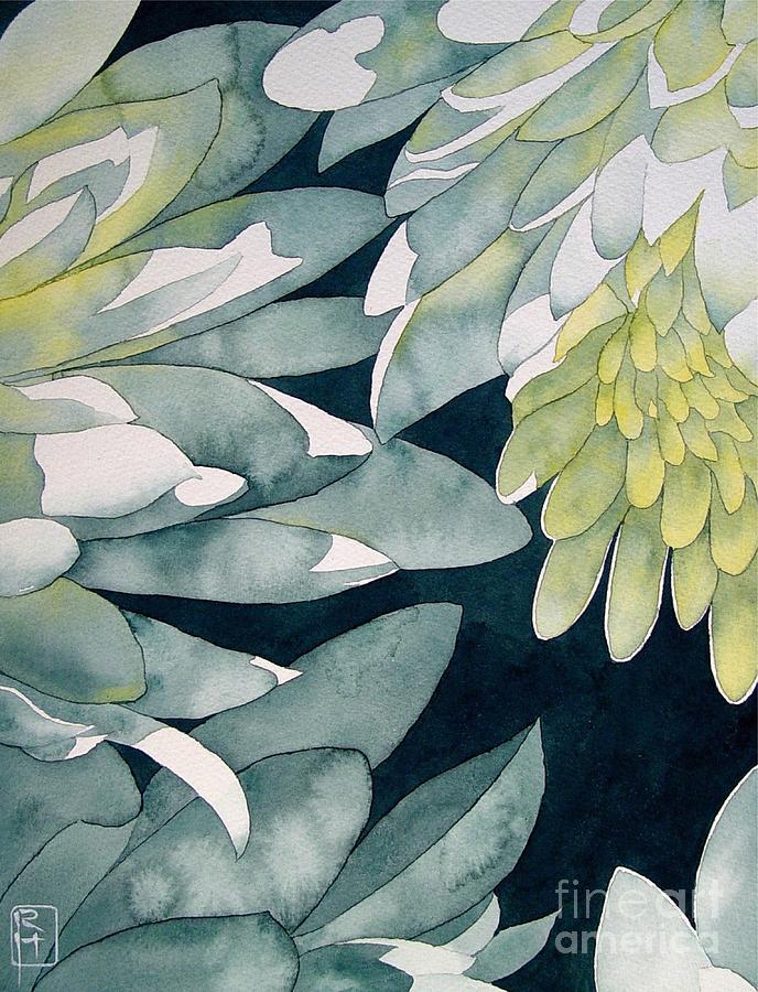 Watercolor Painting - Chrysanthemums by Robert Hooper