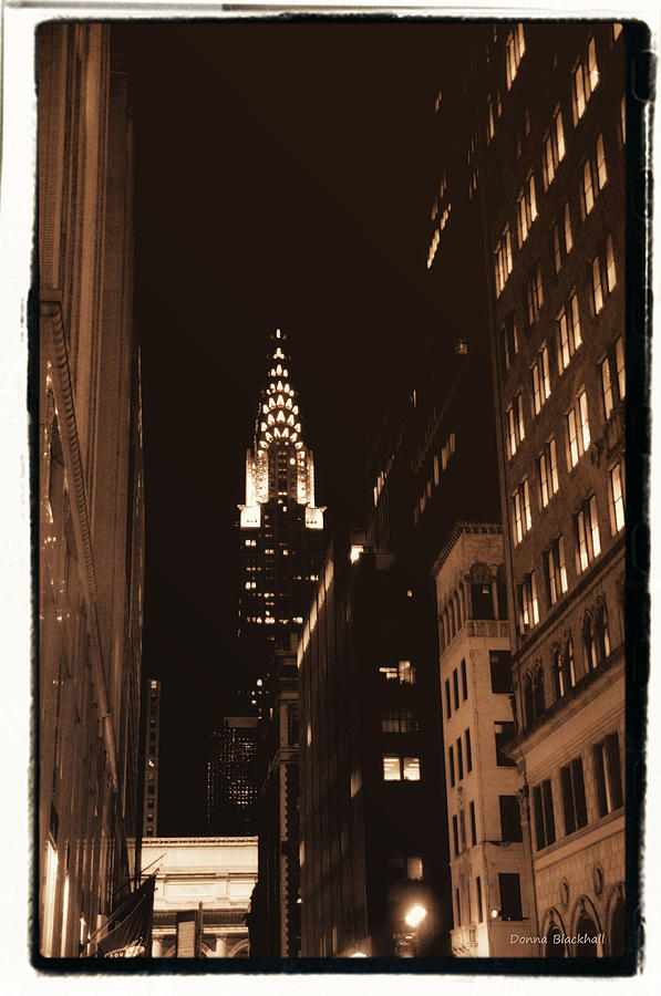 New York Photograph - Chrysler Building by Donna Blackhall