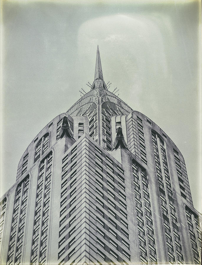 Chrysler Photograph - Chrysler Building Vintage Look by Dick Wood