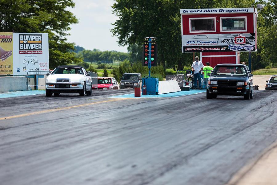 Chrysler Lebaron Convertible Vs Dodge Spirit Es 01 Photograph By