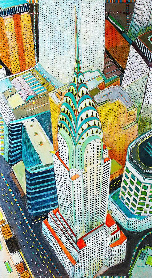 Urban Painting - Chrysler of Manhattan by Habib Ayat