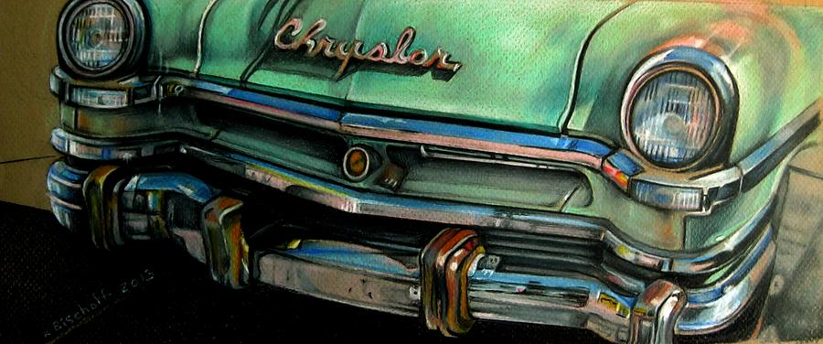 Drawing Drawing - Chrysler Smile by Kathleen Bischoff