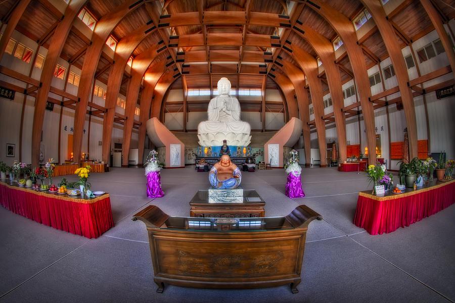 Budda Photograph - Chuang Yen Buddhist Monastery by Susan Candelario