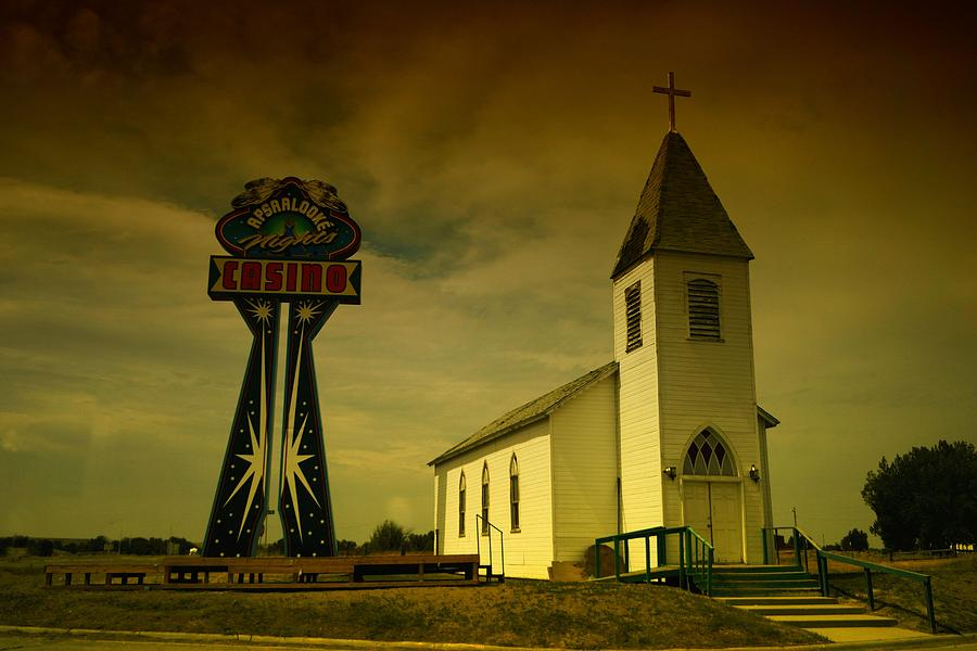 Churches Photograph - Church And Casino Those Two Angels  by Jeff Swan
