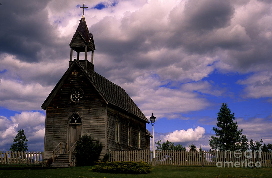 Ranch Photograph - Church At The Okeefe Ranch by Bob Christopher
