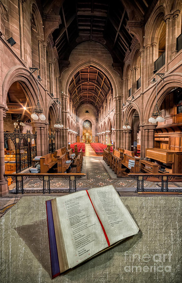 Anglican Photograph - Church Bible by Adrian Evans