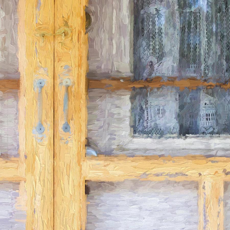 Curtains Photograph - Church Camp House Detail Painterly Series 14 by Carol Leigh