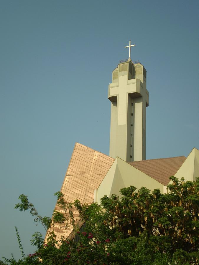 Church Photograph - Church Cross Steeple  by Cherie Haines
