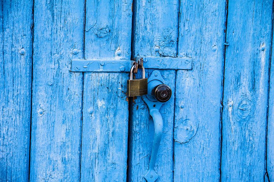 Blue Photograph - Church Door Blues by Steven Bateson