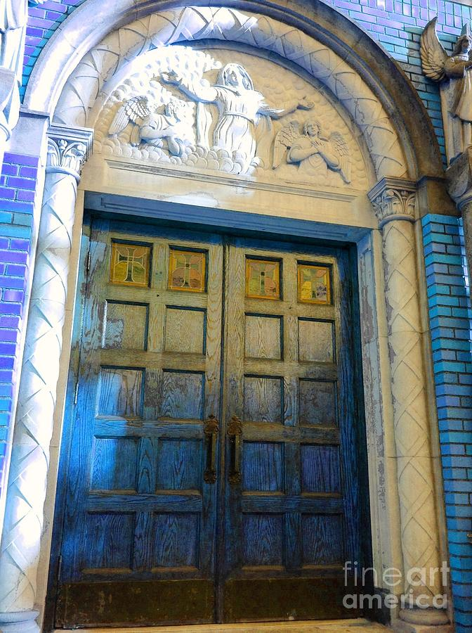 Turquoise Photograph - Church Door II by Becky Lupe