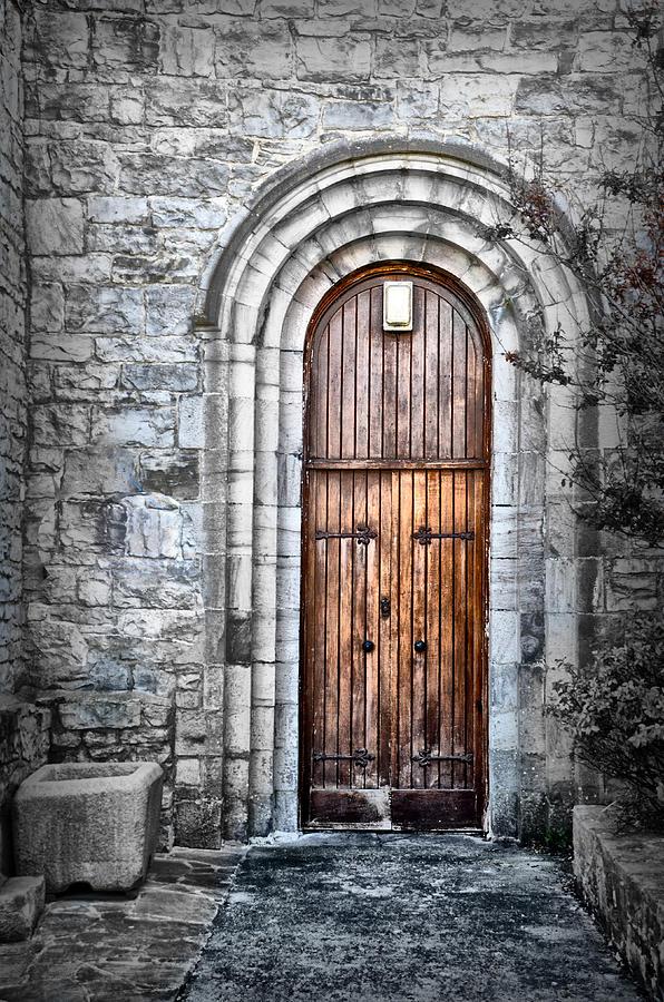 Church Photograph - Church Door Killala Ireland by Bill Cannon