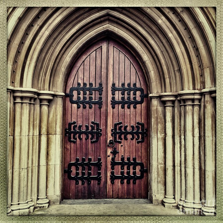 Square Photograph - Church Door by Neil Overy & Church Door Photograph by Neil Overy
