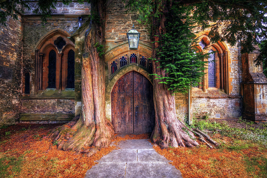 Church Door, Stow On The Wold Photograph by Joe Daniel Price