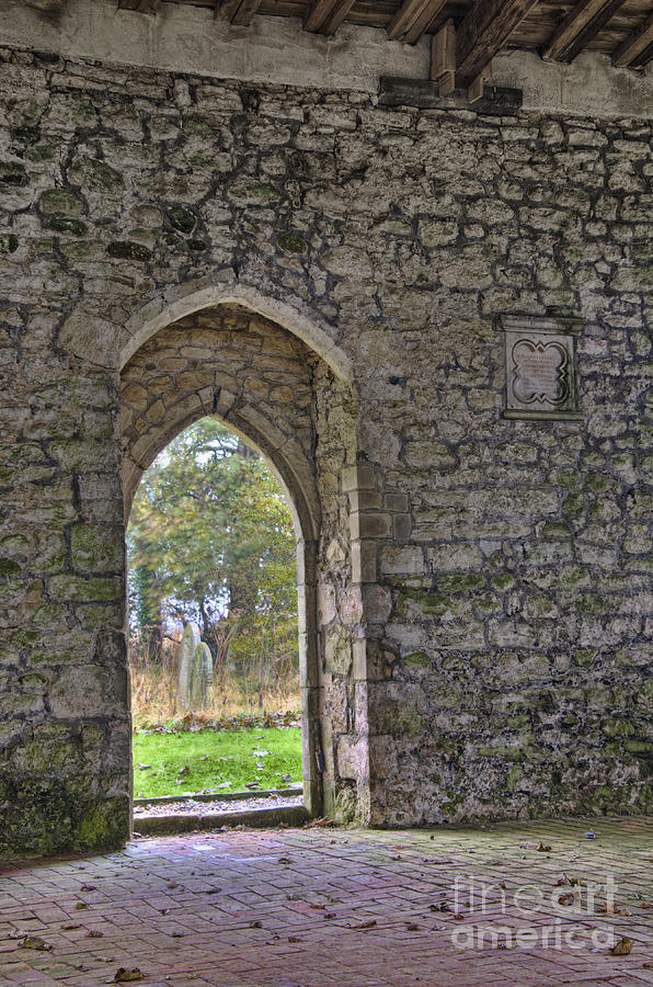 Church Photograph - Church Doorway by Steev Stamford