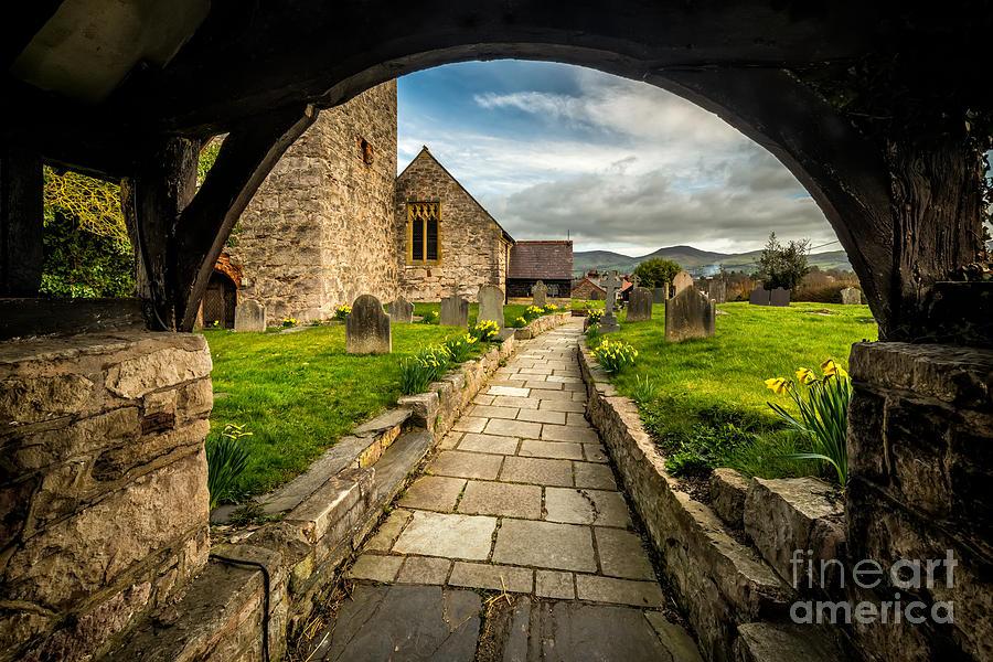 British Photograph - Church Entrance by Adrian Evans