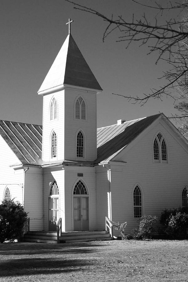 Church Photograph - Church In Black And White by Carolyn Ricks