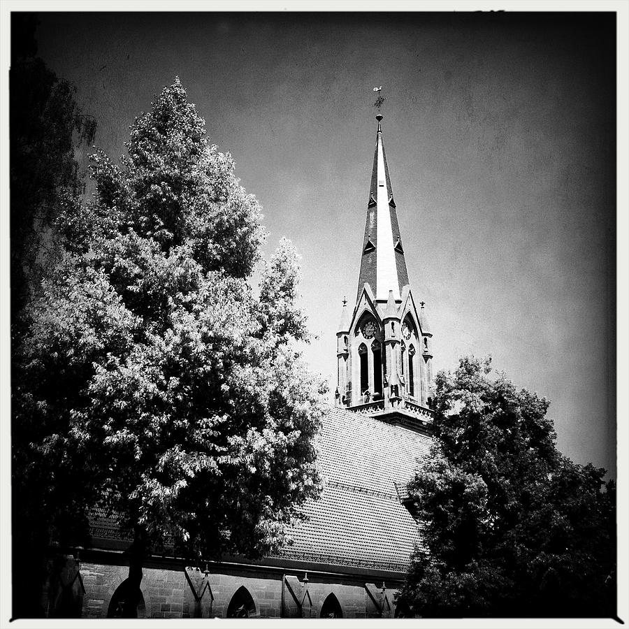 Church Photograph - Church in black and white by Matthias Hauser