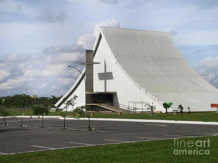 Brazil Digital Art - Church In Brazilia by Carol Ailles
