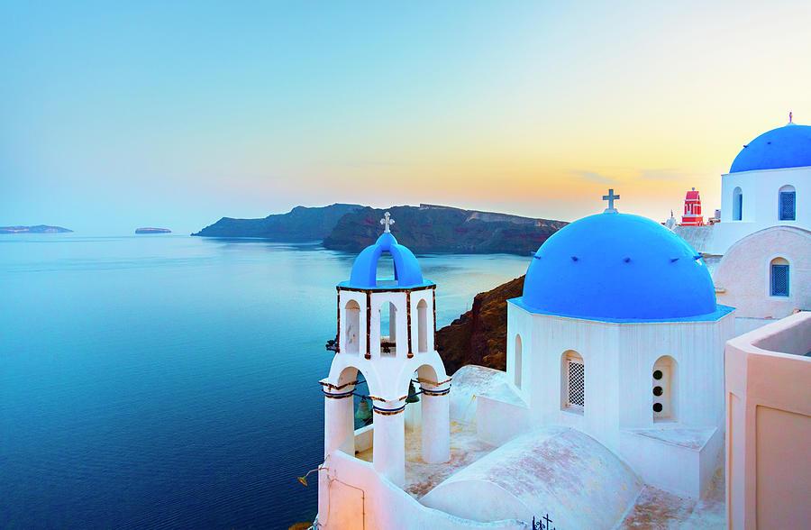 Church In Oia On Santorini Island Photograph by Spooh