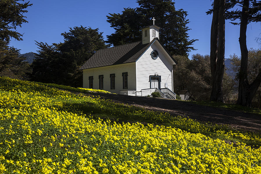 Church Photograph - Church In The Clover by Garry Gay