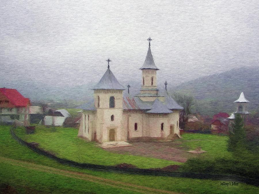 Chapel Painting - Church In The Mist by Jeff Kolker