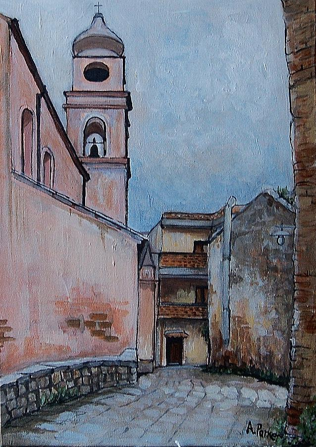 Basilicata Painting - Church In Tursi by Anne Parker