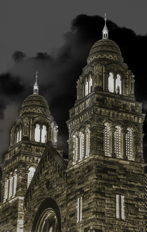 Church Lights Photograph - Church Lights On St. Peter Cathedral by Optical Playground By MP Ray