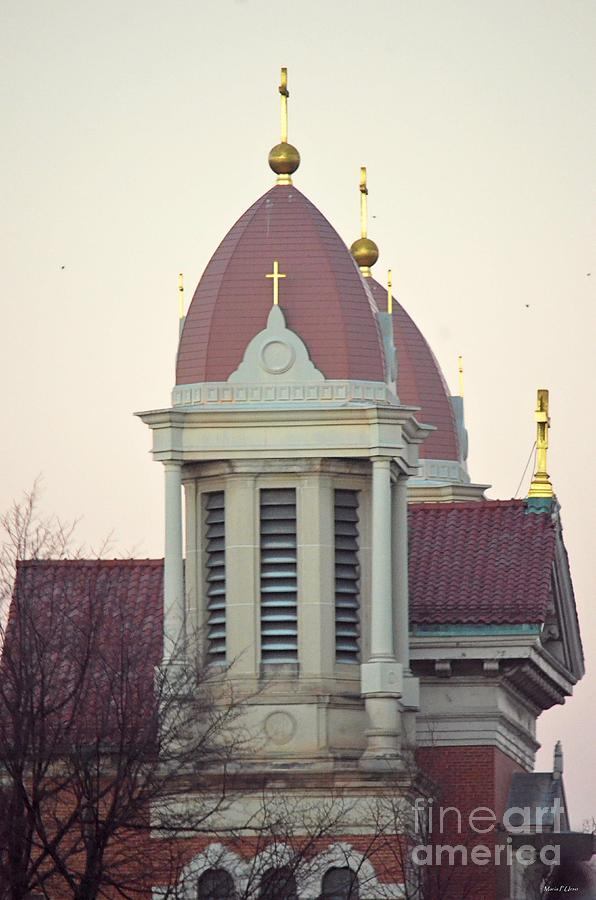 Scranton Photograph - Church Of Gold Crosses by Maria Urso