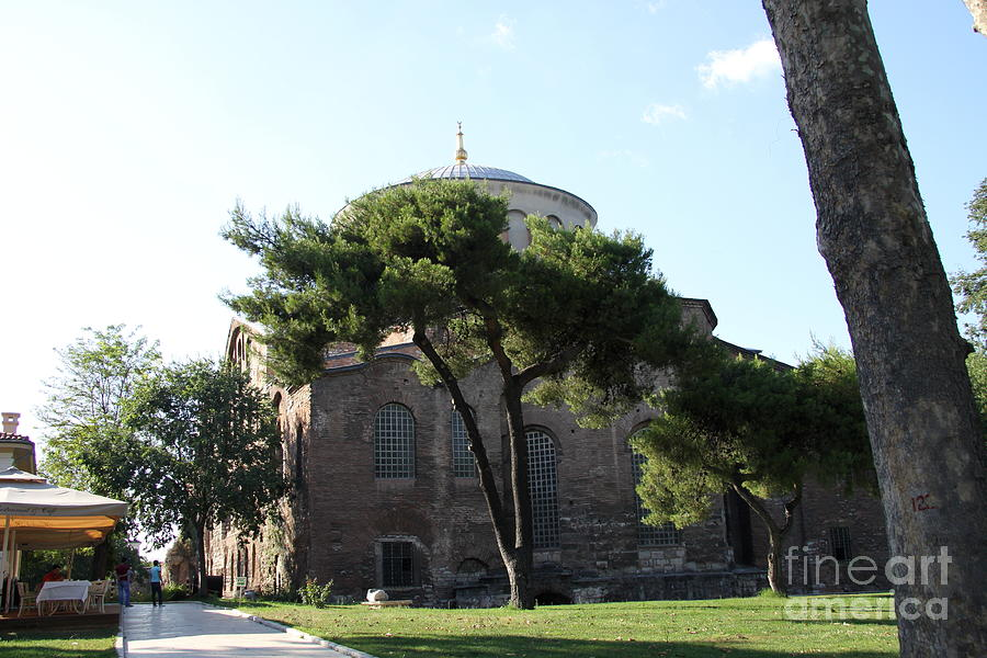 Church Photograph - Church Of Hagia Eirene I - First Courtyard Topkapi Palace by Christiane Schulze Art And Photography