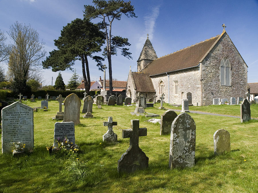 Church Photograph - Church Of St John The Evangelist - Kenn - North Somerset by Rachel Down
