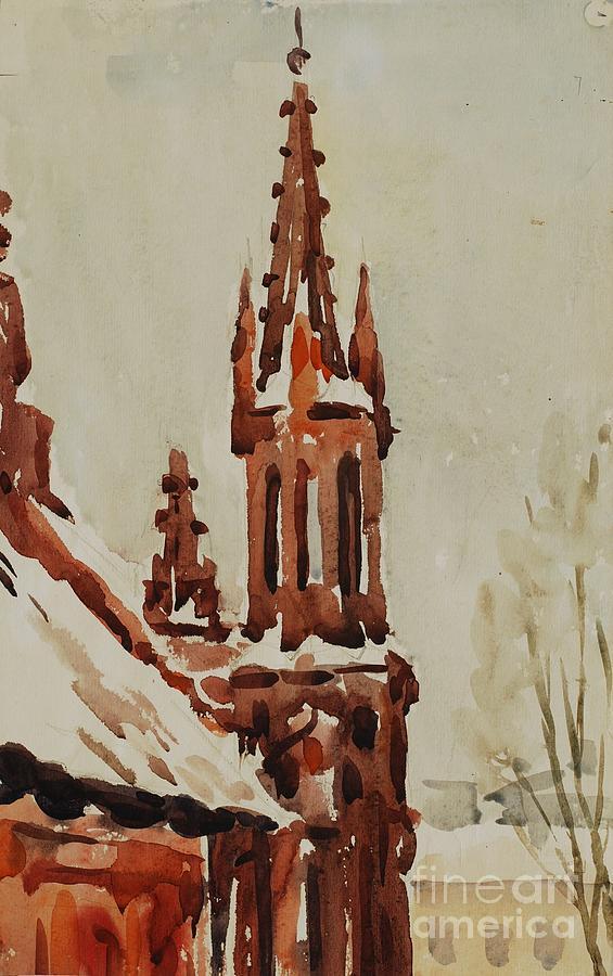 Church Painting - Church by Oleg Konin