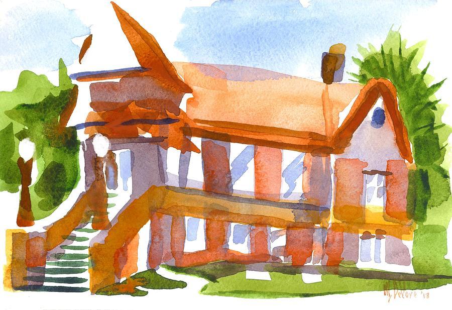 Watercolor Painting - Church On Shepherd Street 4 by Kip DeVore