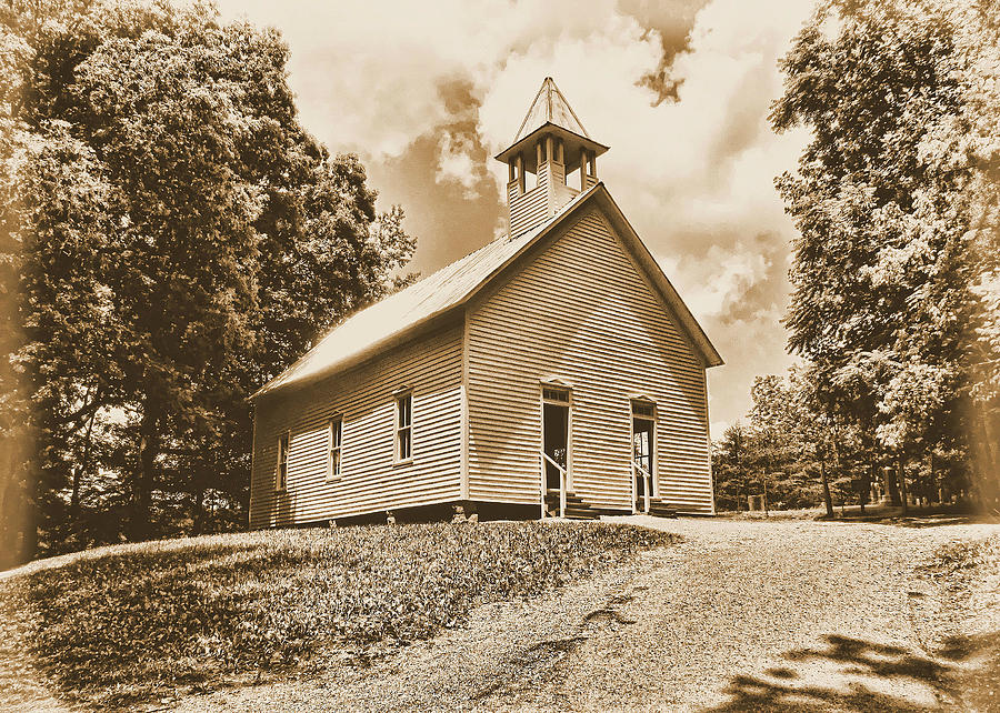 Church Photograph - Church On The Hill by Victor Montgomery
