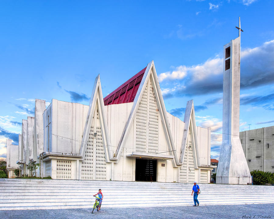 Church On The Main Square Modern Architecture In Liberia Costa Rica