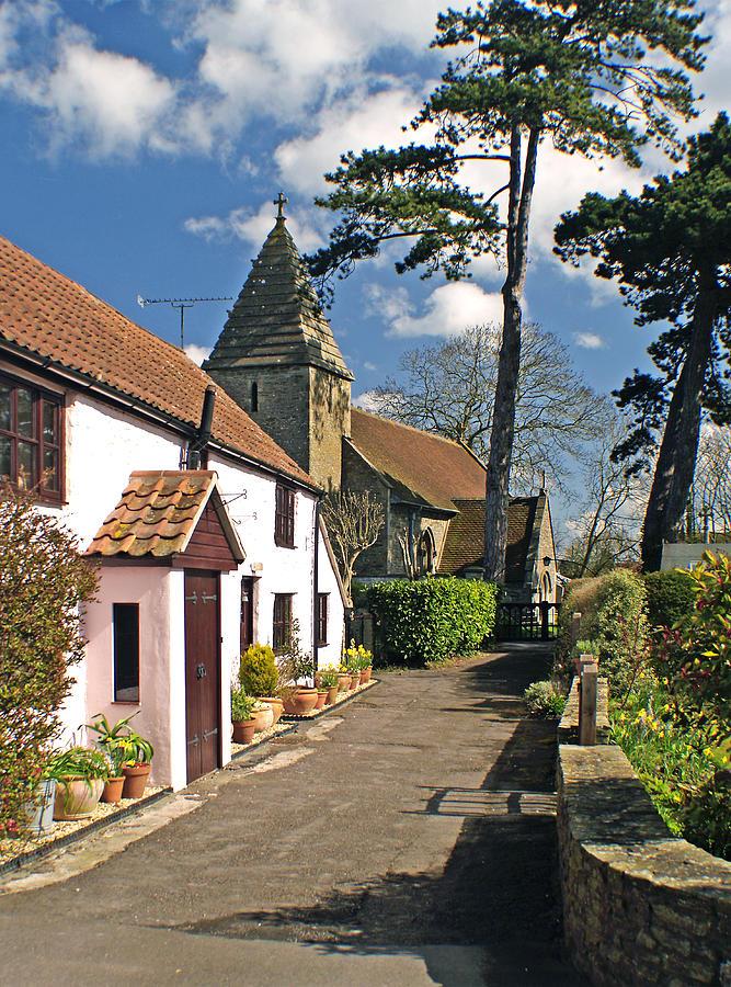 Cottage Photograph - Church Path - Kenn - Somerset by Rachel Down