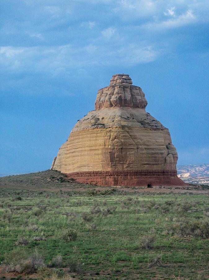 Moab Photograph - Church Rock On The Road To Moab by John Haldane