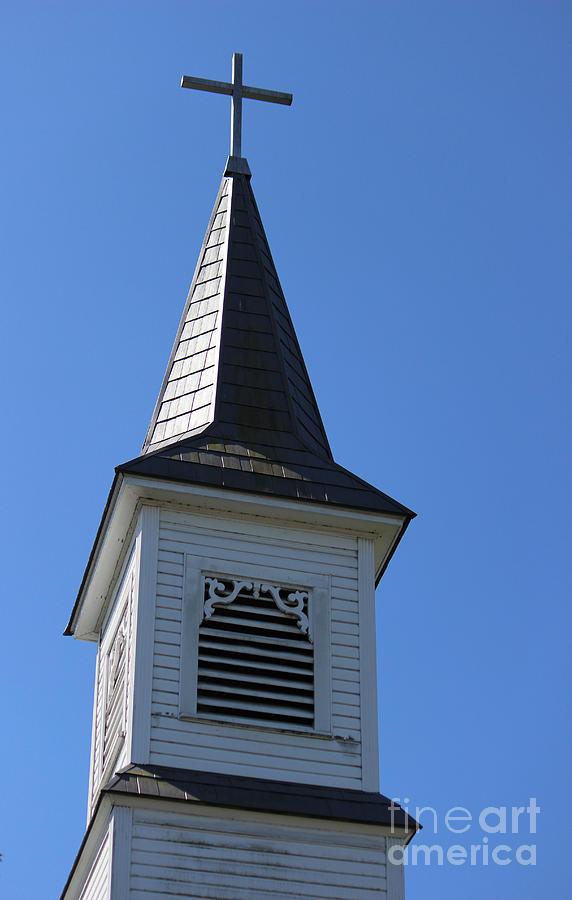 Church Photograph - Church Steeple In Buckley Washington by Cathy Anderson