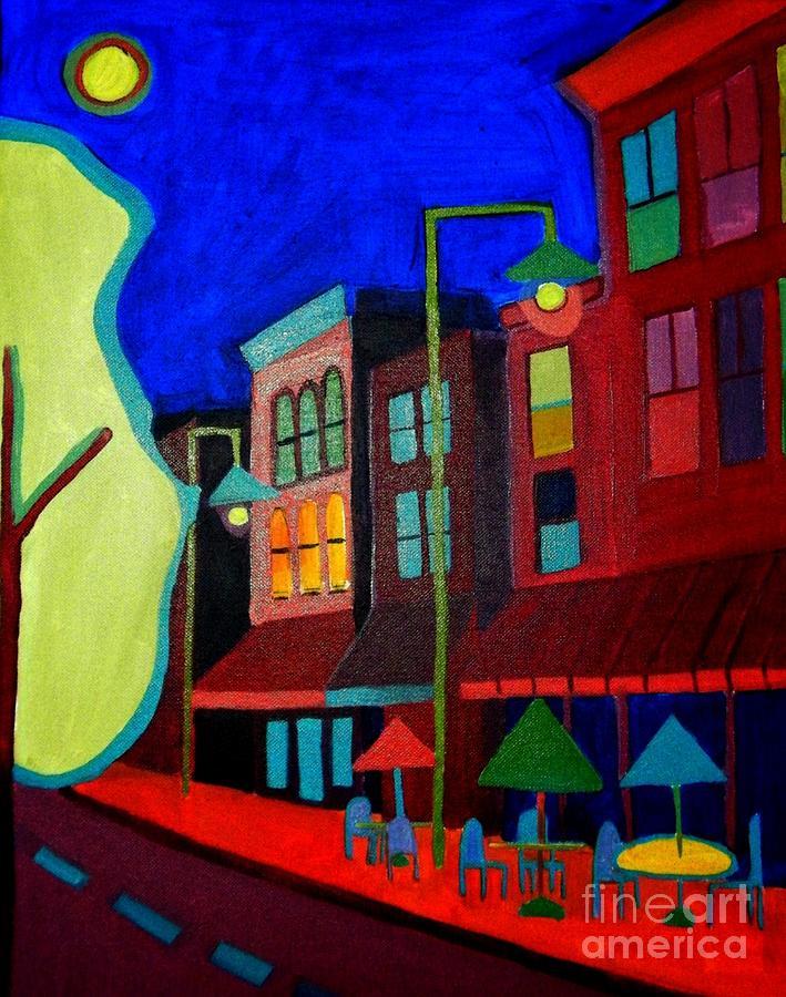 Landscape Painting - Church Street Cafe Burlington VT by Debra Bretton Robinson