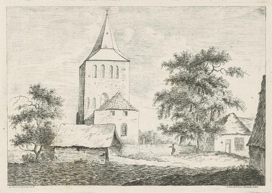 1828 Drawing - Church Tower, Baron Reinierus Albertus Ludovicus Van by Artokoloro