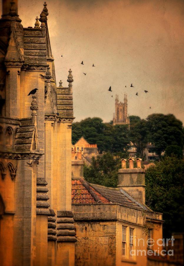 Church Photograph - Churches In Town by Jill Battaglia