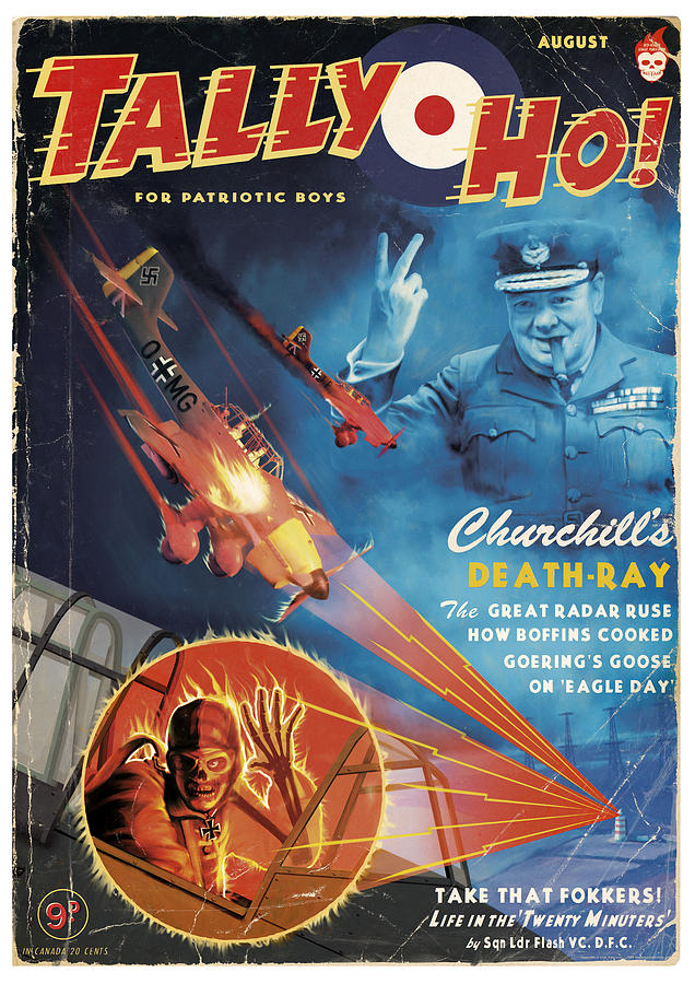 Pulp Painting - Churchills Death Ray by Alex Tomlinson