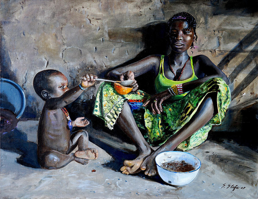 Poverty Painting - Cibo E... by Sefedin Stafa
