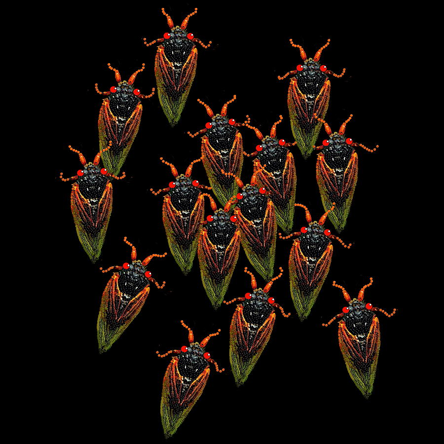 Cicadas Digital Art - Cicadas by R  Allen Swezey