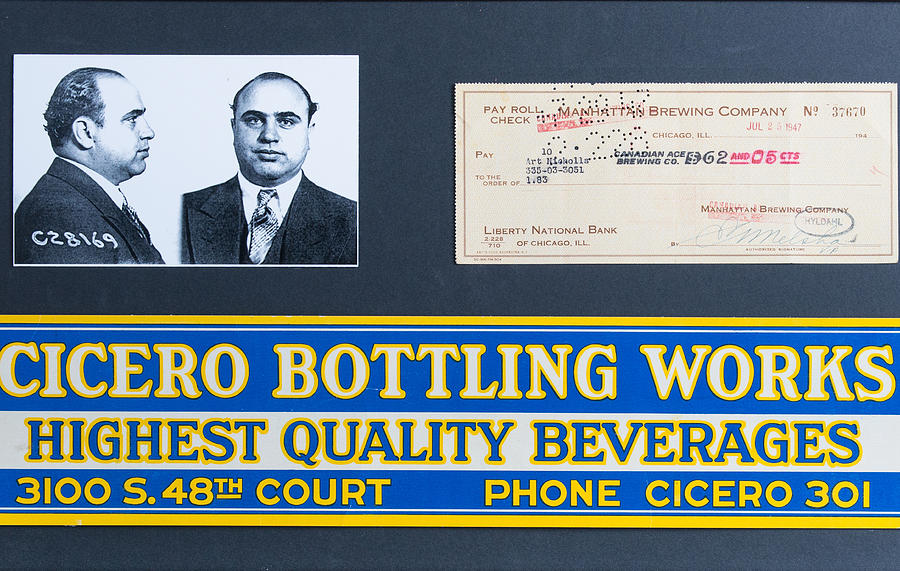 Capone Painting - Cicero Bottling Works Chicago Brewing by Kurt Olson